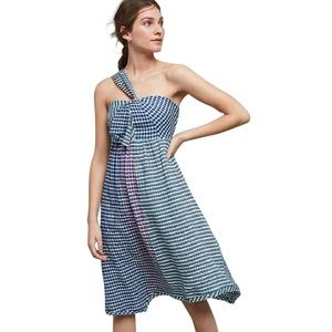 Anthropologie Maeve Gingham Midi Dress NWOT
